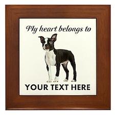 Personalized Boston Terrier Framed Tile