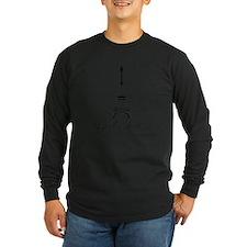 Personalizable Eiffel Tower Long Sleeve T-Shirt