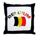 Belgium Throw Pillow