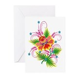 Flower Swirl Greeting Cards (Pk of 10)