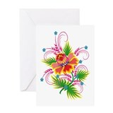 Flower Swirl Greeting Card