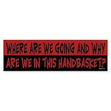 Handbasket Bumper Bumper Sticker