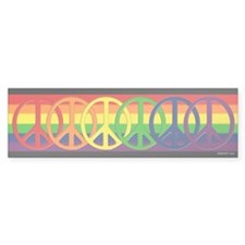 Rainbow Peace Bumper Bumper Sticker