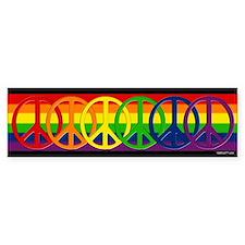 Rainbow Peace Bumper Bumper Sticker