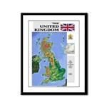 UK Map Framed Panel Print