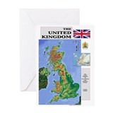 United Kingdom Map Greeting Card