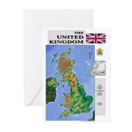 UK Map Greeting Cards (Pk of 10)