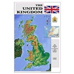 UK Map Large Poster