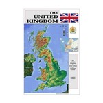 UK Map Mini Poster Print