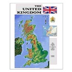 UK Map Small Poster