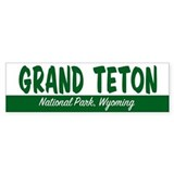 Grand Teton National Park Bumper Bumper Sticker