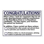 You Have Won My Business (8 postcards)