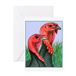 Blue Slate Pair Greeting Card