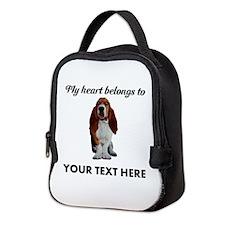 Personalized Basset Hound Neoprene Lunch Bag