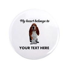 Personalized Basset Hound Button