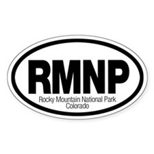 Rocky Mountain National Park Oval Decal