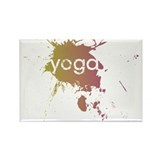 Painted Yoga Rectangle Magnet (10 pack)