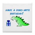 DINO-MITE BIRTHDAY! Tile Coaster