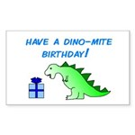 DINO-MITE BIRTHDAY! Rectangle Sticker