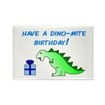 DINO-MITE BIRTHDAY! Rectangle Magnet