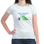 DINO-MITE BIRTHDAY! Jr. Ringer T-Shirt