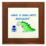 DINO-MITE BIRTHDAY! Framed Tile
