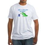 DINO-MITE BIRTHDAY! Fitted T-Shirt