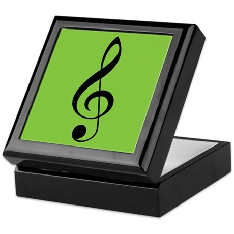 Christmas Treble Clef Music Gift Box