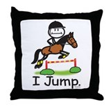 Horse Jumping Throw Pillow