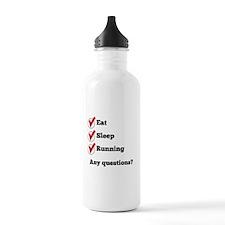 Eat Sleep Running Checklist Water Bottle