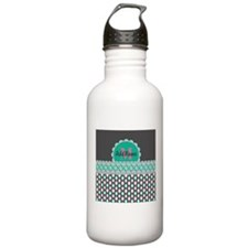 Teal and Pink Custom P Water Bottle