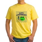 HAPPY/HOPPY ANNIVERSARY Yellow T-Shirt