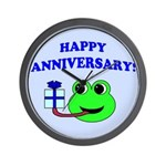 HAPPY/HOPPY ANNIVERSARY Wall Clock