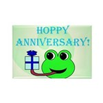HAPPY/HOPPY ANNIVERSARY Rectangle Magnet