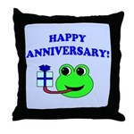 HAPPY/HOPPY ANNIVERSARY Throw Pillow