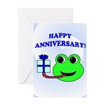 HAPPY/HOPPY ANNIVERSARY Greeting Card