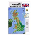 UK Map Postcards (Package of 8)