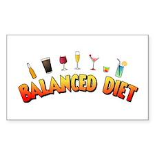 Balanced Diet Rectangle Decal