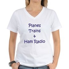 Planes,Trains & Ham Radio Shirt
