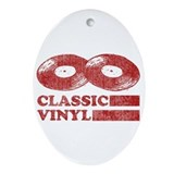 Classic Vinyl Oval Ornament