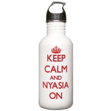 Keep Calm and Nyasia O Water Bottle