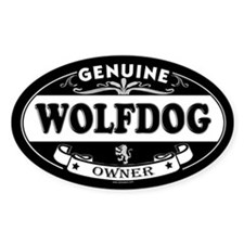 WOLFDOG Oval Decal