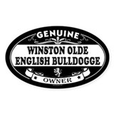 WINSTON OLDE ENGLISH BULLDOGGE Oval Decal