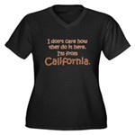 From California Women's Plus Size V-Neck Dark T-Sh