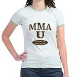MMA School of Hardknocks Pink Jr. Ringer T-Shirt