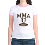 MMA School of Hardknocks Yellow Jr. Ringer T-Shirt