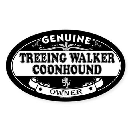 TREEING WALKER COONHOUND Oval Sticker
