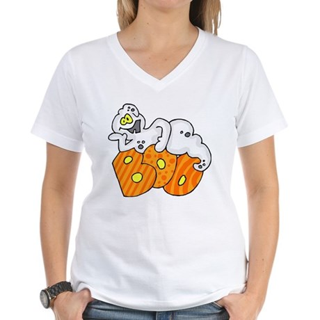 Boo Halloween Women's V-Neck T-Shirt