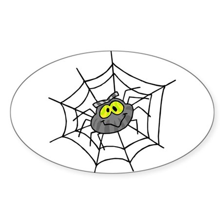 Little Spider Oval Sticker
