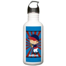 Red Blue Personalized Water Bottle